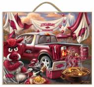 Arkansas Razorbacks Tailgate Plaque