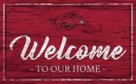 Arkansas Razorbacks Team Color Welcome Sign
