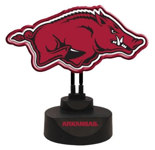 Arkansas Razorbacks Team Logo Neon Light