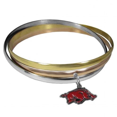 Arkansas Razorbacks Tri-color Bangle Bracelet