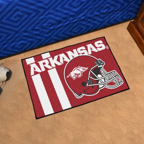 Arkansas Razorbacks Uniform Inspired Starter Rug