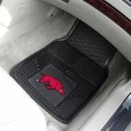 Arkansas Razorbacks Vinyl 2-Piece Car Floor Mats