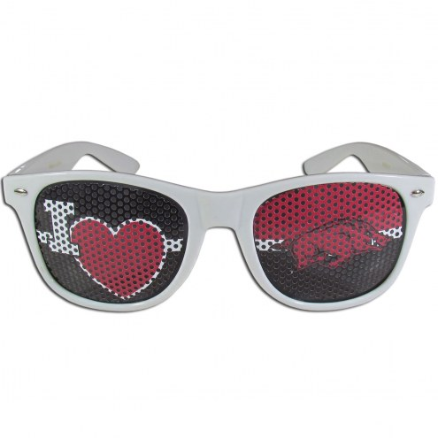 Arkansas Razorbacks White I Heart Game Day Shades