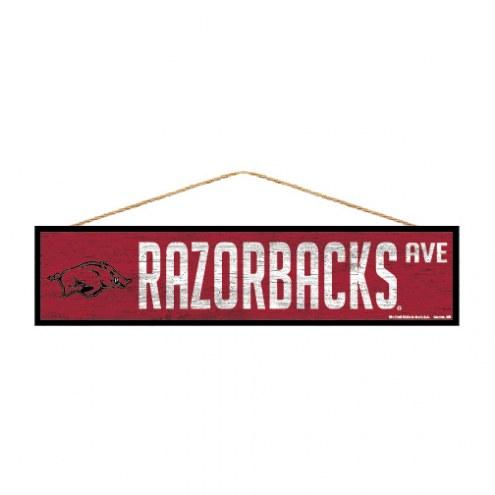 Arkansas Razorbacks Wood Avenue Sign