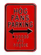 Arkansas Razorbacks Woo Pig Sooie Parking Sign