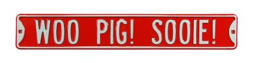 Arkansas Razorbacks Woo Pig Sooie Street Sign