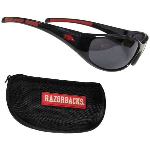 Arkansas Razorbacks Wrap Sunglasses and Case Set