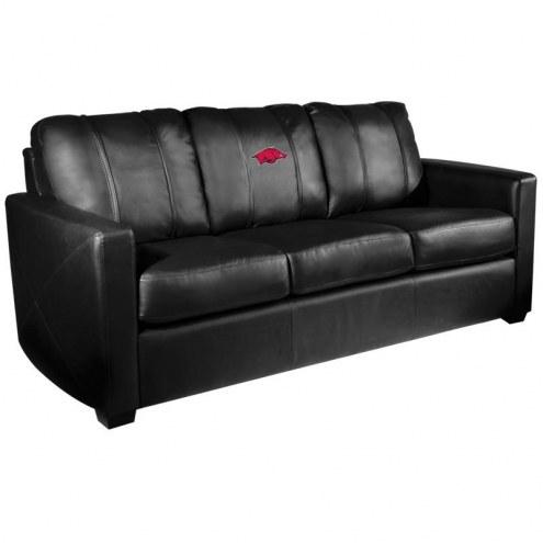 Arkansas Razorbacks XZipit Silver Sofa