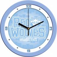 Arkansas State Red Wolves Baby Blue Wall Clock