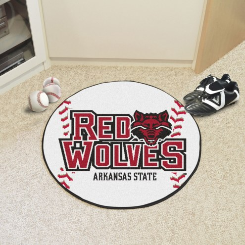 Arkansas State Red Wolves Baseball Rug