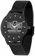 Arkansas State Red Wolves Black Dial Mesh Statement Watch