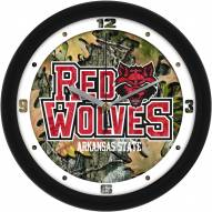 Arkansas State Red Wolves Camo Wall Clock