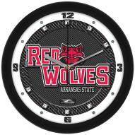 Arkansas State Red Wolves Carbon Fiber Wall Clock