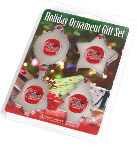 Arkansas State Red Wolves Christmas Ornament Gift Set