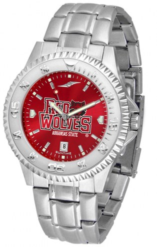 Arkansas State Red Wolves Competitor Steel AnoChrome Men's Watch