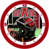 Arkansas State Red Wolves Football Helmet Wall Clock