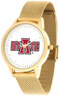 Arkansas State Red Wolves Gold Mesh Statement Watch