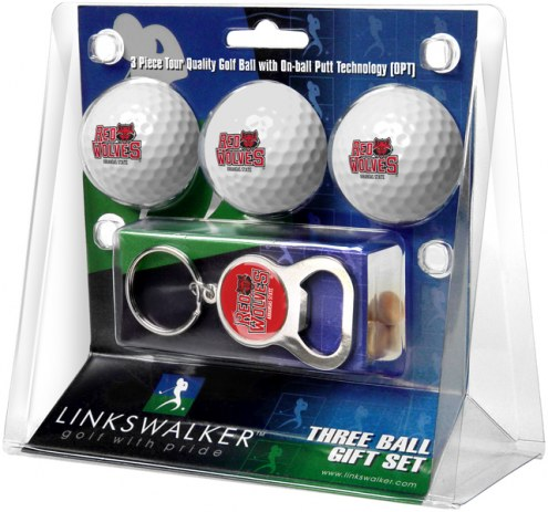 Arkansas State Red Wolves Golf Ball Gift Pack with Key Chain