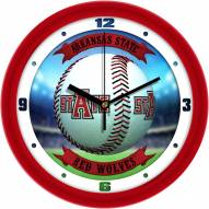 Arkansas State Red Wolves Home Run Wall Clock