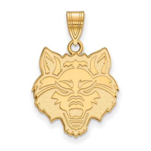 Arkansas State Red Wolves NCAA Sterling Silver Gold Plated Large Pendant