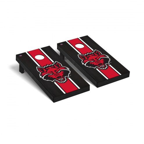 Arkansas State Red Wolves Onyx Stained Cornhole Game Set