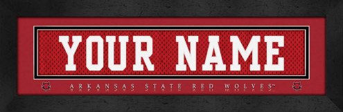 Arkansas State Red Wolves Personalized Stitched Jersey Print