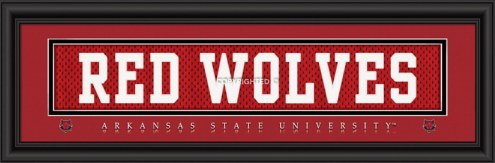 "Arkansas State Red Wolves ""Red Wolves"" Stitched Jersey Framed Print"