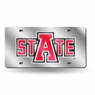 Arkansas State Red Wolves Silver Laser License Plate