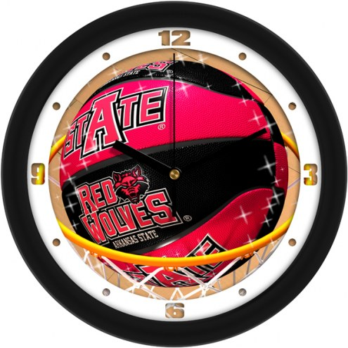 Arkansas State Red Wolves Slam Dunk Wall Clock