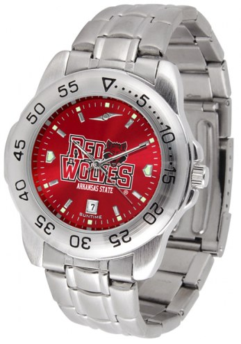 Arkansas State Red Wolves Sport Steel AnoChrome Men's Watch