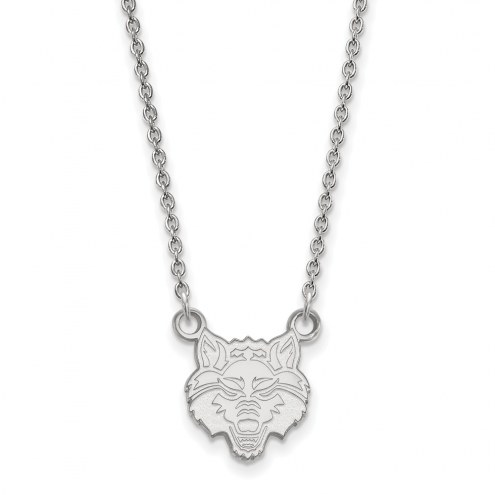 Arkansas State Red Wolves Sterling Silver Small Pendant Necklace