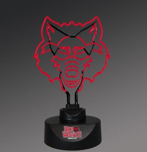 Arkansas State Red Wolves Team Logo Neon Lamp