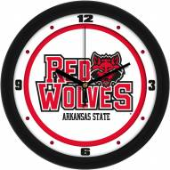 Arkansas State Red Wolves Traditional Wall Clock