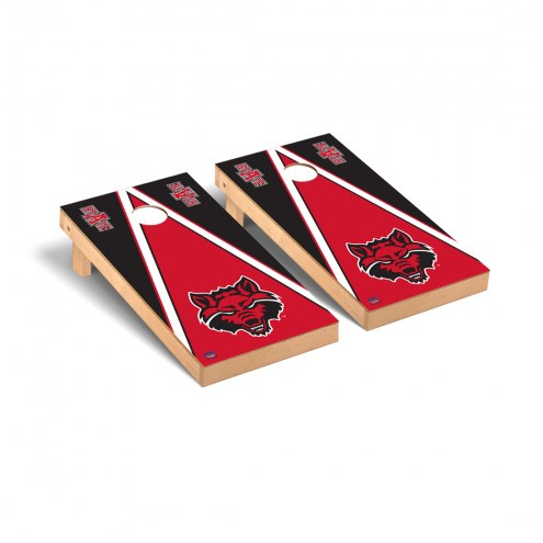 Arkansas State Red Wolves Triangle Cornhole Game Set