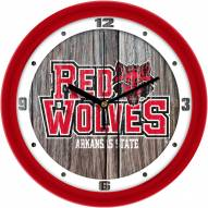 Arkansas State Red Wolves Weathered Wood Wall Clock