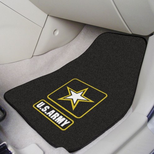 Army Black Knights 2-Piece Carpet Car Mats