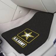 Army Black Knights 2-Piece Carpet Car Mats