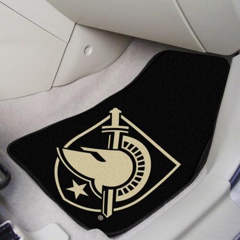 "Army Black Knights ""A"" 2-Piece Carpet Car Mats"