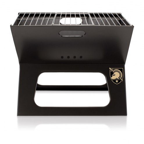 Army Black Knights Black Portable Charcoal X-Grill