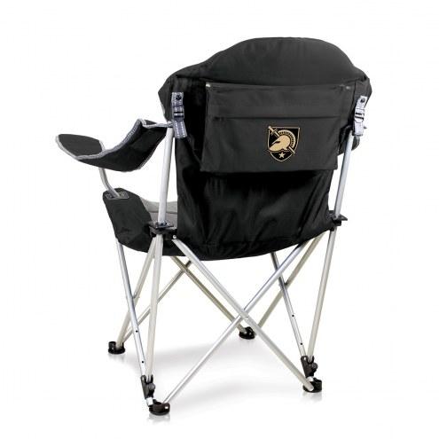 Army Black Knights Black Reclining Camp Chair