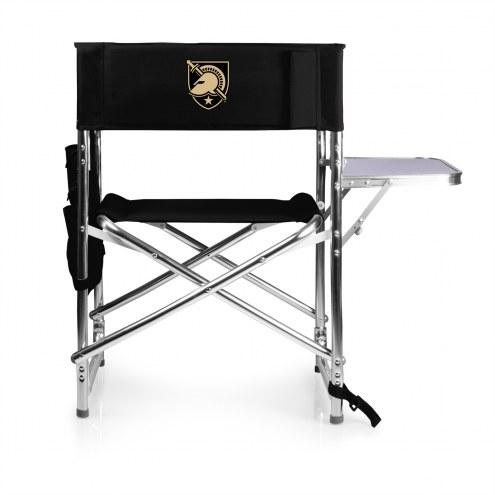 Army Black Knights Black Sports Folding Chair