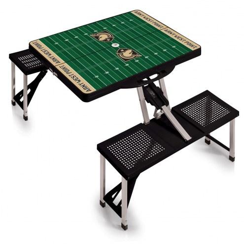 Army Black Knights Black Sports Folding Picnic Table