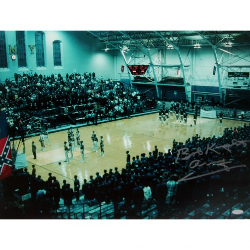 """Army Black Knights Bob Knight at the Gym Signed 16"""" x 20"""" Photo"""