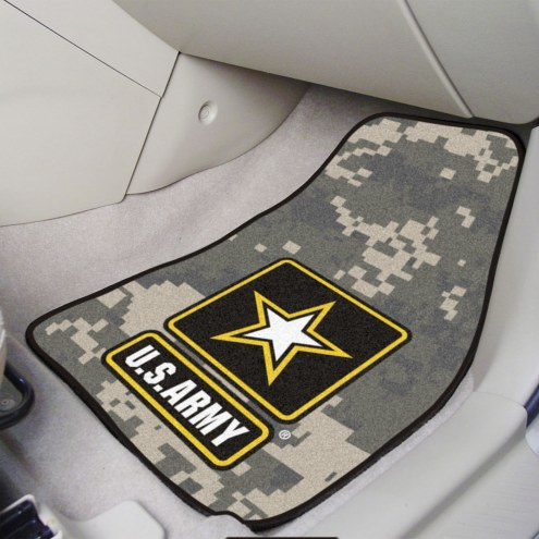 Army Black Knights Camo 2-Piece Carpet Car Mats