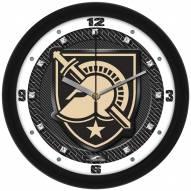 Army Black Knights Carbon Fiber Wall Clock