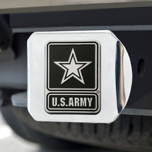Army Black Knights Chrome Metal Hitch Cover