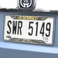 Army Black Knights Chrome Metal License Plate Frame
