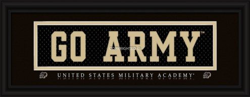 """Army Black Knights """"Go Army"""" Stitched Jersey Framed Print"""