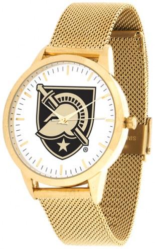Army Black Knights Gold Mesh Statement Watch