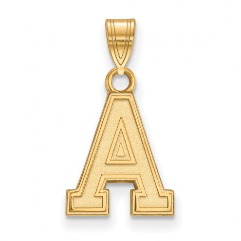 Army Black Knights NCAA Sterling Silver Gold Plated Small Pendant